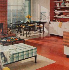 1960s Breakfast Nook Television Kitchen Vintage Interior Design Photo by Christian Montone, via Flickr