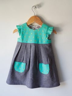 Made by Rae Cotton and Steel Geranium Dress — Nabi Popo