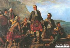 'Lochaber No More' by J.B. Macdonald. Depicting Prince Charles Edward Stuart leaving after his defeat in the Culloden Rebellion.