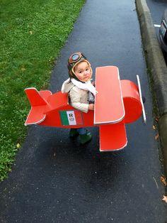 Aviator girl costume, looked just like Amelia Earhart. #Halloween #pilot #PorcoRosso #HunterBoots #Italy