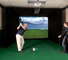Par T Golf Indoor Golf Simulator New. We are proud to introduce the latest and most advanced indoor High Definition golf simulator ever offered. Over thirty years of experience and success have created this new HD simulator. Indoor Golf Simulator, Golf Room, Golf Cart Parts, Golf Club Grips, Golf Trolley, Golf 7, Used Golf Clubs, Golf Photography, Masters Golf