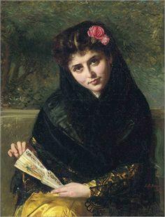a spanish beauty-John Bagnold Burgess-1875