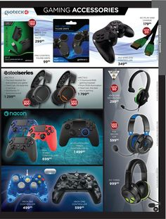 View all of SA's newspaper and catalogue specials in one easy place. Add alerts and let us keep you up to date with the latest specials! March 7, Gaming Accessories, Gaming Headset, Xbox One, Entertaining, Musica