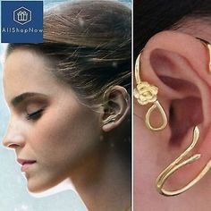 Details about Beauty and the Beast Earrings Ear Cuff Belle Cosplay Jewelry Gold Plated Rose - Earrings Belle Cosplay, Ear Jewelry, Gold Jewelry, Fine Jewelry, Jewelry Holder, Jewelry Box, Jewlery, Gold Necklace, Cuff Earrings