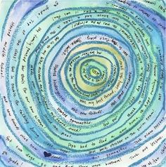 My Years, in Tree Rings - would be great as a poem in art/poetry books - other great ideas on this site, too...