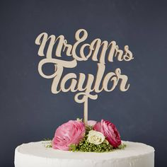Personalised Wooden Wedding Cake Topper £23 not on the high street
