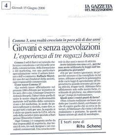 Articolo - Intervista su La Gazzetta del Mezzogiorno