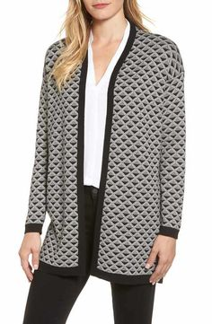 Chaus Geometric Jacquard Sweater