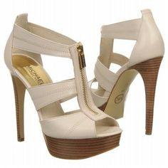 MICHAEL MICHAEL KORS Womens Berkley Platform Vanilla Leather