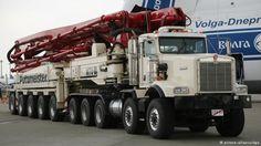 WORLDS LARGEST CONCRETE trucks - Google Search Heavy Construction Equipment, Construction Machines, Heavy Equipment, Big Rig Trucks, Cool Trucks, Semi Trucks, Train Truck, Road Train, Cement Mixer Truck