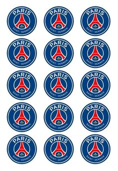 St Germain Paris, Saint Germain, Paris San German, Birthday Cake Toppers, Cupcake Toppers, Soccer Birthday Parties, Paris Saint, Daily Home Workout, Happy Birthday Banners