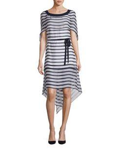 ALBERTA FERRETTI Draped Sleeve Dress. #albertaferretti #cloth #dress