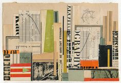 """150910: Build 5 x 7"""" book collage on paper"""