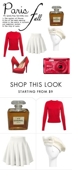 """""""Paris in Fall Look"""" by bernardashley ❤ liked on Polyvore featuring Chanel, Helene Berman and Jessica Simpson"""