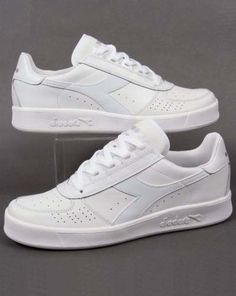 7999856601d Diadora B. Elite III Trainers in White White - Borg Elite tennis 80s  classic