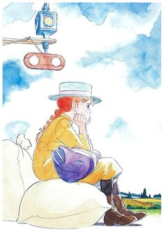 """Anne of Green Gables 赤毛のアン Akage no Anne"" promotional art © Nippon Animation* Cartoon Drawings, Art Drawings, Anne Auf Green Gables, Anne With An E, Anne Shirley, Art Auction, Art Girl, Chibi, Concept Art"