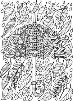VISIT FOR MORE Hand draw doodle coloring page for adult. I love Autumn. An Umbrella and Leaves. Raster copy The post Hand draw doodle coloring page for adult. I love Autumn. An Umbrella and Leaves. Fall Coloring Pages, Doodle Coloring, Printable Coloring Pages, Coloring Pages For Kids, Coloring Sheets, Free Coloring, Coloring Books, Kids Coloring, Halloween Illustration