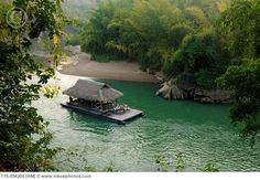 Kwai River in Sai Yok National Park in Kanchanaburi Thailand