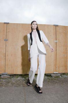 #karakusi #whitejacket #cotton #elegant #ss17 #berlin #nyc