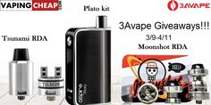 Enter to win over $147 worth of vape gear from 3avape at http://vapingcheap.com