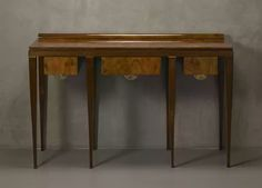 console by gio ponti italy, 1929 briar root provided with the certificate of authenticity of the gio ponti archives