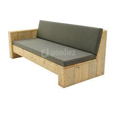Steigerhouten meubels op maat gemaakt kopen   Woodiez Outdoor Sofa, Outdoor Furniture, Outdoor Decor, Pallet Bank, Daybed, Backyard Patio, Dining Bench, Garden Ideas, Home Decor