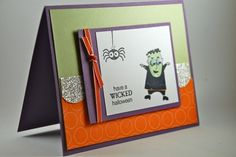 Have a Wicked Halloween Handmade Monster Card