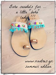 Boho sandals for a little lady !!! #boho #sandals by www.xantres.gr