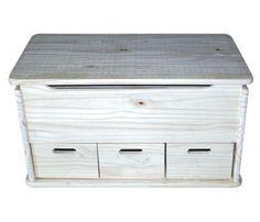 Baúl de madera 3 CAJONES - Leroy Merlin