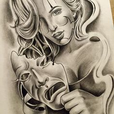 Art Chicano, Chicano Art Tattoos, Chicano Drawings, Chicano Love, Cholo Art, Body Art Tattoos, Sleeve Tattoos, Tattoo Sketches, Tattoo Drawings