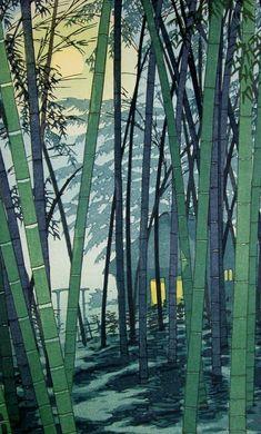 Hatsunatsu no take (Bamboo in Early Summer), by Shiro Kasamatsu, 1954: