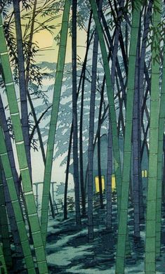 Hatsunatsu no take (Bamboo in Early Summer), by Shiro Kasamatsu, 1954: