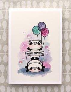 Happy Pandas! 30 Day Coloring Challenge Blog Hop. Check out the details at Kristina Werner's blog.