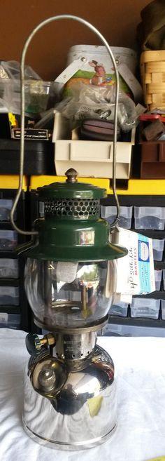 Vintage Coleman Bubble Glass Green Model 242C Lantern Lamp! #Coleman