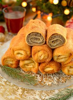 Polish Recipes, Polish Food, Savory Pastry, Party Food And Drinks, Christmas Appetizers, Side Dishes Easy, Yummy Cookies, Good Food, Cooking Recipes