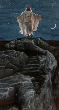 Jesus Goes Up Alone Onto A Mountain to Pray by James Tissot