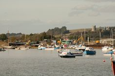 Messing about on boats.  Leigh on Sea.  View towards Hadleigh Castle.  Photo by Deborah Weston.