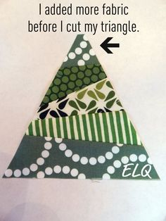 Ellison Lane : Christmas Tree Block Tutorial...you could do Christmas mug rugs, placemats, etc with this or do quilted throw with this design.