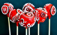 """Bandana Cake Pops! Perfect for a """"country-themed"""" party!"""