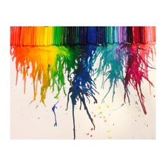 Melted crayons Needed: Crayons  Poster (preferably cardboard) Blow-dryer  And time!