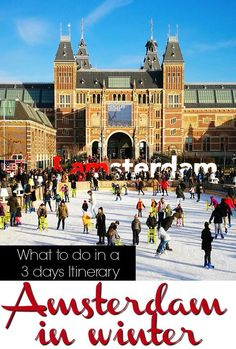 What to do in Amsterdam, where to stay and places to eat. A complete itinerary for 3 days in Amsterdam in winter, all you need to plan your trip to this amazing city in the Netherlands.  via @loveandroad: