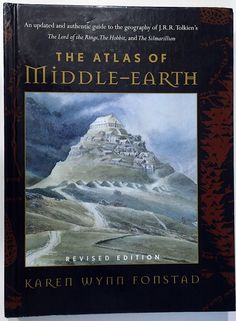 THE ATLAS OF MIDDLE EARTH revised edition KAREN WYNN FONSTAD Hardback 1991