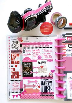 red & pink Valentine's Week in The Happy Planner™ of mambi Design Team member Mary-Ann Maldonado | me & my BIG ideas