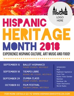 celebrating hispanic heritage month poster flyer template hispanic rh pinterest com event flyer templates free download free printable blank flyer templates - Free Printable Event Flyer Templates