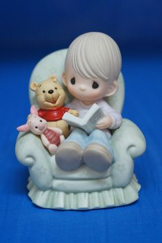 Pooh Everything's Better w/ Friend Disney Precious Moments 2005 Figurine First #PreciousMoments