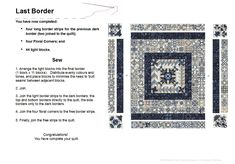 Assembling the Final Border You made it! Now it's time to complete the quilt. Download Final Border Layout instructions (as .pdf).