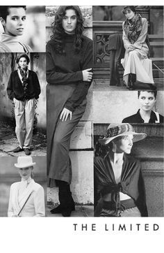 We adore this collage from '89 that we found in our archives! Structured hats and elegant scarves are just a few timeless pieces that live on through every fashion decade. #LTDsince1963 #thelimited