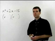 Factoring Trinomials - MathHelp.com - Algebra Help - YouTube Algebra Help, Math Help, School Tool, School Stuff, College Math, Vision Therapy, Phlebotomy, Reading Resources, Learning Disabilities