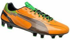 PUMA evoSPEED 1 FG Mens Soccer Cleats (NEW) Orange/Black/Green