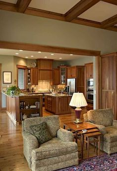 64 ideas kitchen paint colors with oak cabinets ideas wood trim for 2019 Kitchen Paint Colors, Room Paint Colors, Paint Colors For Living Room, New Living Room, Living Area, Stained Wood Trim, Oak Wood Trim, Wood Stain, Design Lounge